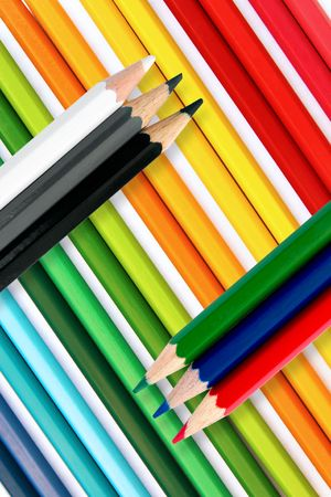 Color pencil background Stock Photo - 5548364