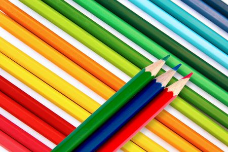 Pencils in red, green, blue Stock Photo - 5548363