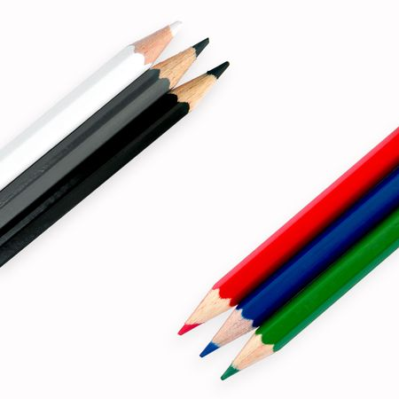 Crayons on white Stock Photo - 5548362