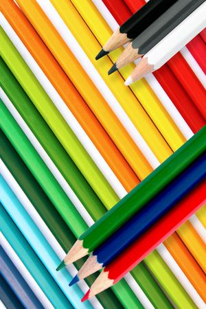 Crayons as background Stock Photo - 5616424