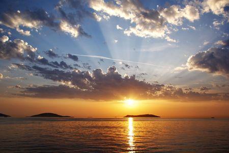 Lucht ruim boven de zee van Marmara