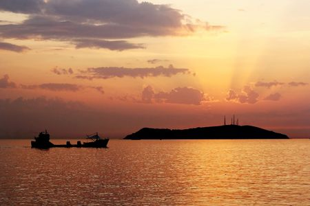 Cargo ship on Marmara Sea photo