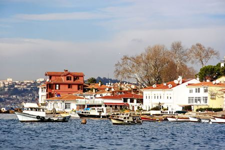 bosporus: Cengelkoy bay. Bosporus, Istanbul Stock Photo