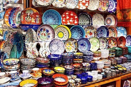 Souvenir ceramics in Grand Bazaar photo