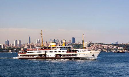 ferryboat: Istanbul city ferryboat Stock Photo
