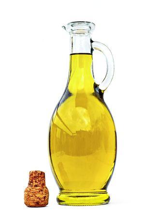 aceite de cocina: Aceite de oliva Foto de archivo