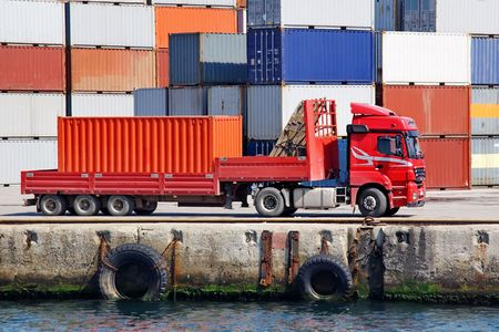 Container truck Stock Photo - 6017148