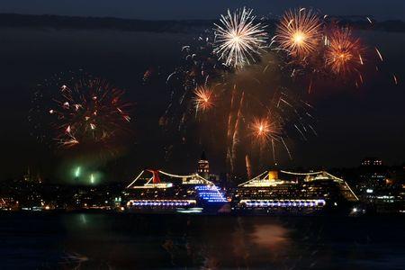 Feest in Istanbul Harbor