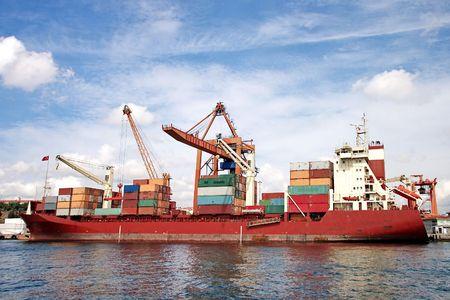 Container ship in sea port Stock Photo - 6252040
