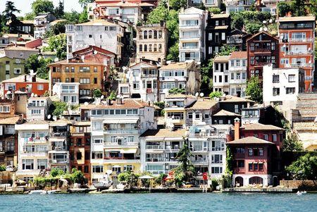 Buildings along Bosporus. Sariyer, Istanbul photo