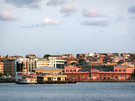 cloud drift: Kadikoy Port, Istanbul - Turkey