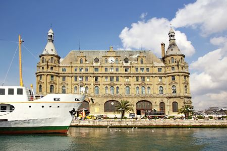 Haydarpasa pier and train station in Istanbul photo