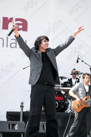 vocalist: ISTANBUL - APRIL 25: MANGA performs live on the stage at Maltepe on April 25, 2010 in Istanbul, Turkey. Vocalist Ferman Akgul