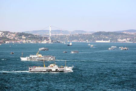 bosporus: Boats on Bosporus  Stock Photo