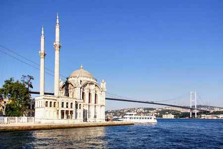 Summer at Ortakoy with Mecidiye Mosque photo