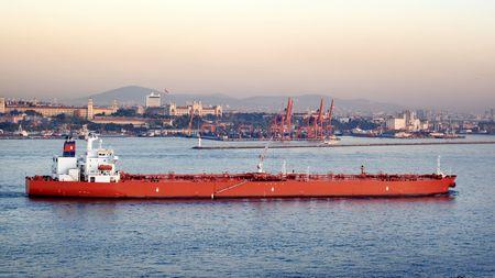 Grote olie tanker  Stockfoto