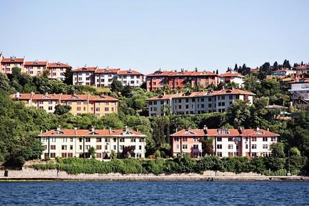 bosporus: Buildings along Bosporus. Kanlica, Istanbul
