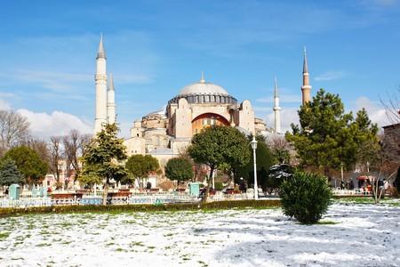 Hagia Sophia in winter Stock Photo - 7878565