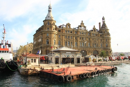 haydarpasa: ISTANBUL - NOVEMBER 29:  Fire severely damages Haydarpasa Central Station on November 28, 2010 in Istanbul. Built by Sultan Abdulhamid in 1908 as the starting point of the Istanbul-Baghdad railroad