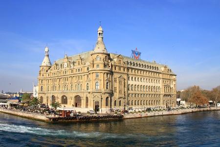 haydarpasa: Haydarpasa station building in Istanbul