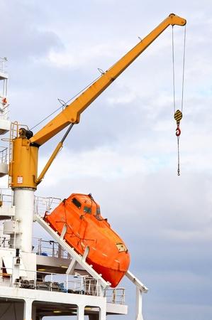 Moderne reddingsboot Stockfoto