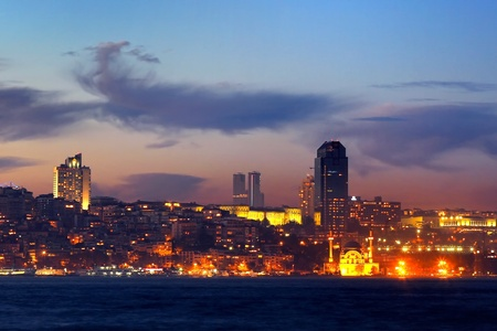 Kabatas - Dolmabahce region in night photo