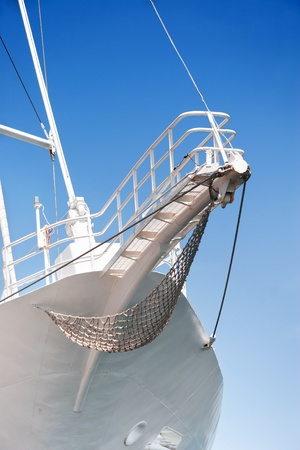 prow: Prow of sailing boat