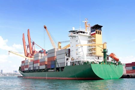 Green container ship Stock Photo - 10005766