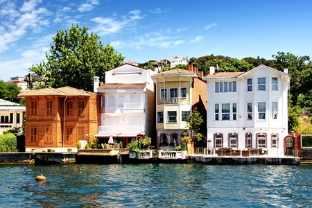 Bosporus huizen in Istanbul