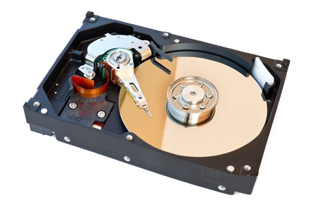 Hard Disk Drive, inside of HDD isolated on white background Stock Photo - 10201717
