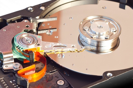 disaster recovery: Hard Disk Drive with water drops  Stock Photo