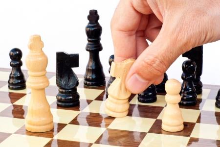 ajedrez: Tablero de juego de ajedrez Foto de archivo