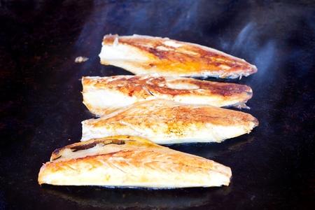 Fried bonito fish  photo