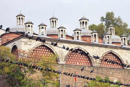 mehmed: Tophane i Amire Building in Istanbul. Imperial armory, built by Ottoman Sultan Mehmed II (1481)