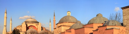 Panoramic view of Hagia Sophia and Haseki Hamami (Turkish Bath) photo
