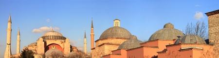 turkish bath: Panoramic view of Hagia Sophia and Haseki Hamami (Turkish Bath)