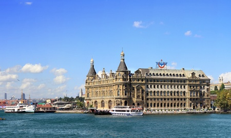 haydarpasa: ISTANBUL - SEPTEMBER 10: Haydarpasa Train Station on September 10, 2011 in Istanbul. It still largest station in Turkey, built by Sultan Abdulhamid as start of Railroad to Baghdad in 1908