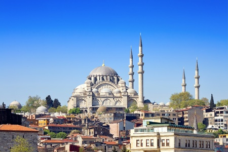 Istanbul Suleymaniye Mosque built by Suleiman the Magnificent Stock Photo