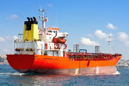 タンカー船 写真素材