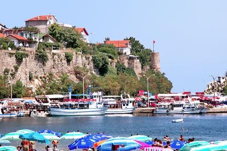 turkey beach: Small harbor region, Amasra - Turkey