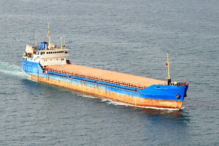 Large Cargo Ship, Aerial view