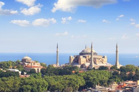 hagia: Hagia Irene and Hagia Sophia, Istanbul, Turkey Stock Photo