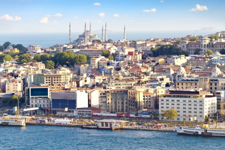 Crowded city of istanbul photo