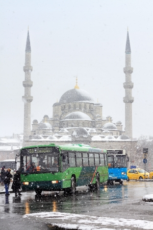 Eminonu Bus Stop in Winter