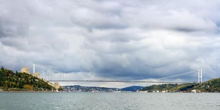 hisari: Istanbul FSM Bridge in Winter