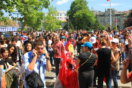 broadened: ISTANBUL - JUN 1: Violence sparked by plans to build on the Gezi Park have broadened into nationwide anti government unrest on June 1, 2013 in Istanbul, Turkey. Kadikoy Street Editorial