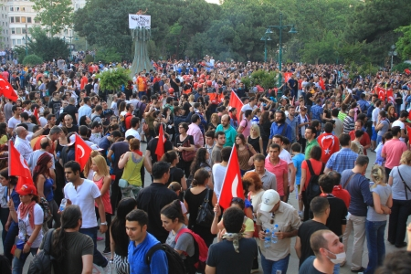 broadened: ISTANBUL - JUN 1: Violence sparked by plans to build on the Gezi Park have broadened into nationwide anti government unrest on June 1, 2013 in Istanbul, Turkey. Taksim, Gezipark