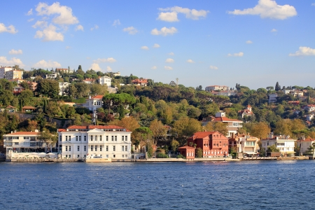 Kucuksu, Istanbul   Waterside residences along Bosbhorus Sea  photo
