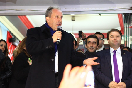 ISTANBUL - MARCH 16, 2014  CHP deputy parliamentary group chair Muharrem Ince declared Ali KILIC as their candidate for Maltepe region