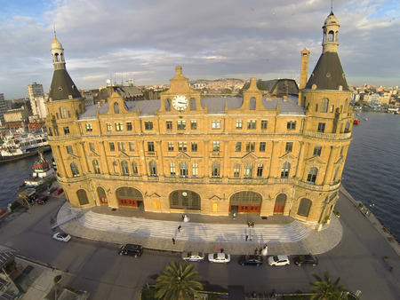 Haydarpasa, Istanbul, Turkey. High Angle View